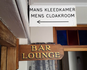 """The last time I saw a sign that says """"kleedkamer"""" must have been at school."""