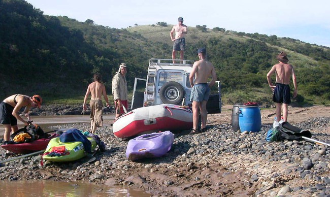 Unmotivated to pack up after a great time on the river.