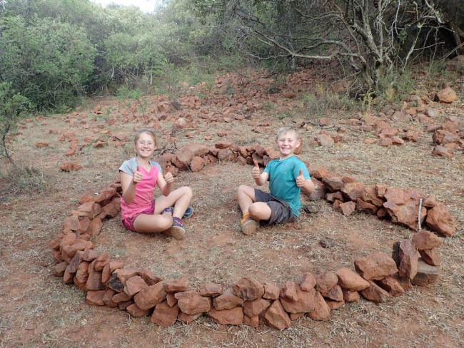 Inside their own little kraal they built