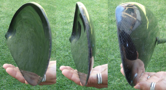 Different views of wing blade profile.